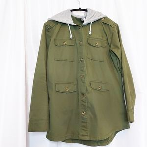 H&M Divided Hooded Military Jacket Size 10 NWOT